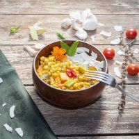 Chickpea Curry with Vegetables and Rice