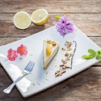 Homemade Raw Vegan Mango Cake
