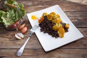 Venus Black Rice with Cauliflower & Tahini