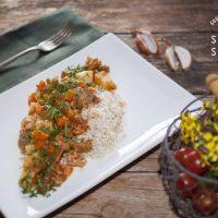 Vegan Chili con Carne with Basmati Rice